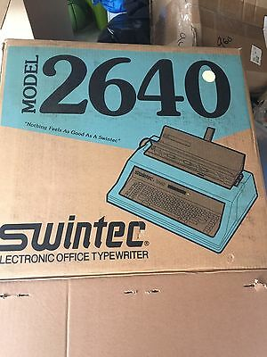 New ** Swintec Electric Typewriter Model 2640 NIB With Spell Check