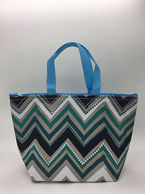 Defect Thirty one Thermal Picnic lunch Tote storage Bag Dotty chevron 31 gift b