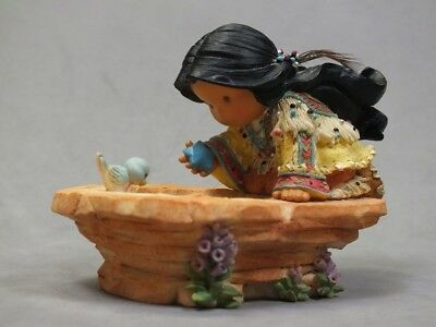 """Friends of the Feather ENESCO """"Wish Well"""" #545287 figurine 1999 WITH BOX"""