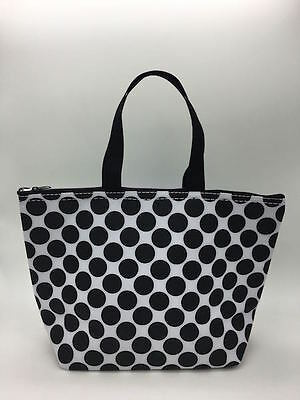Defect Thirty one Thermal Picnic lunch Tote storage Bag Black spotty dot 31 b