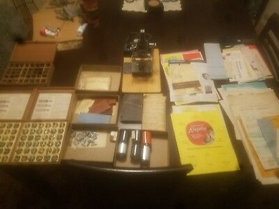 Vintage Kingsley  Hot Foil Stamping Machine M-50 W/ Many Extras