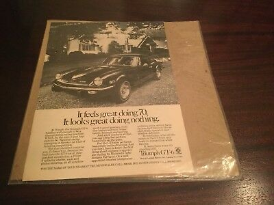 1972 TRIUMPH GT6 - Feels Great Doing 70  Vintage Car Ad