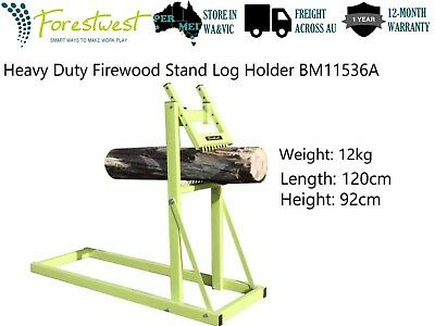 Portable Saw Horse Chainsaw Stand Firewood Log Stand Log Holder Steel Frame