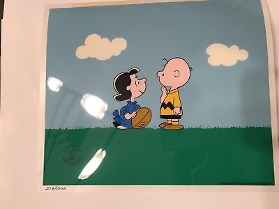 Charlie Brown Lucy Football Serigraph Cel