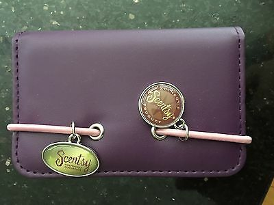 Scentsy Business Card Holder Supplies New Purple Charms
