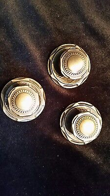 Vintage Amerock Carriage House Pulls Knobs Drawer Cabinet Antique Brass Lot of 3