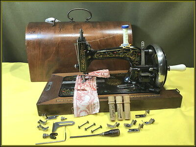 Antique Clemens Muller ~Saxonia~ 3/4 Size Hand Crank Sewing Machine
