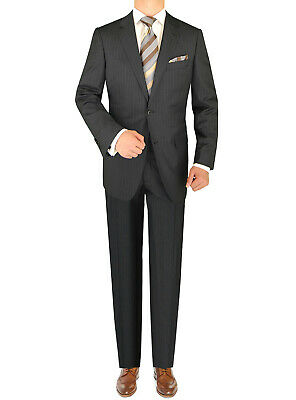 Luciano Natazzi Mens Two Button 160S Cashmere Wool Suit