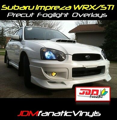 04 05 Impreza WRX STI Fog light Rally JDM Yellow Overlays Tint Vinyl Film Precut