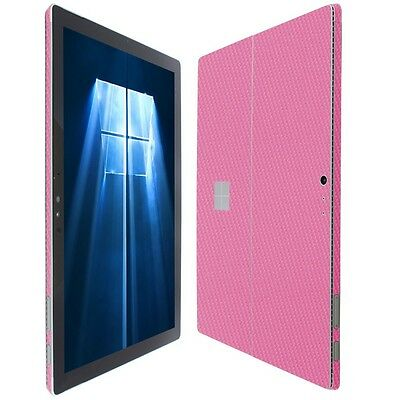Skinomi Pink Carbon Fiber Skin+Screen Protector for Microsoft Surface Pro 2017