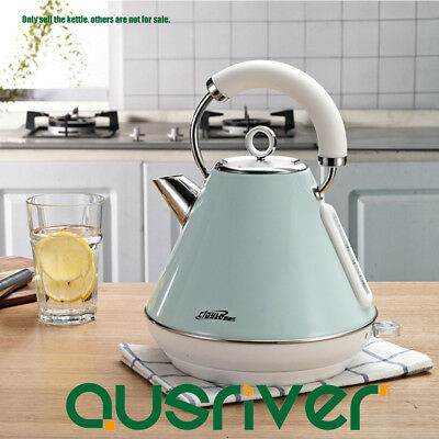304 Stainless Steel Electric Kettle Light Green Traditional Pyramid Kettle 1.8L