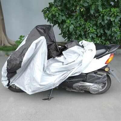 NEW Practical UV Protect Silver & Black Bike Motorcycle Cover DustProof Cover AU