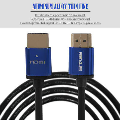 1M/3M/5M/10M Super Long Aluminum Alloy HDMI Cable Male To Male HDMI Cable QQ