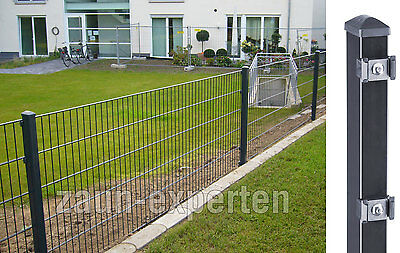 doppelstab gartenzaun 15m x 0 63m anthrazit komplett zaungittermatten metall eur 339 00. Black Bedroom Furniture Sets. Home Design Ideas
