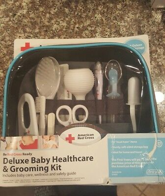 The First Years American Red Cross Deluxe Baby Healthcare & Grooming Kit -NEW