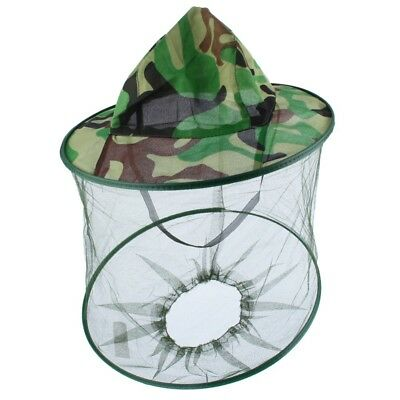 Outdoor Mosquito Resistance Bug Insect Bee Net Mesh Head-Face Protector Cap.Hats