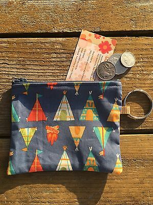 Boys Or Girls Tent,Campfire Spilt ring  Coin Pouch 14 X11cm Christmas Birthday