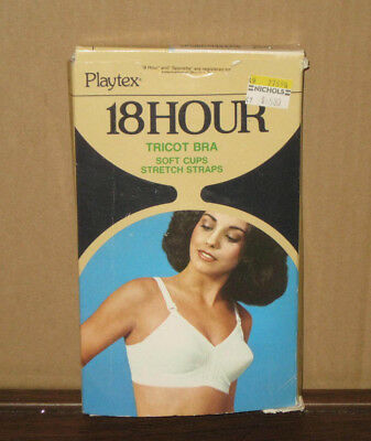Playtex 18 Hour Bra White Style #41 NEW IN BOX 36B Vintage 1970s