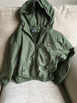 Lyle and Scott boys Green bomber Jacket (6-7 years) VGC