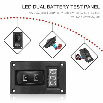 12-24V LED Dual Battery Test Panel Rocker Switch  for Car Truck Marine Boat ~ AU
