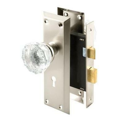 "Prime-Line E 2496 Single Cylinder Mortise Lock Set 2-3/8"", Satin Nickel"