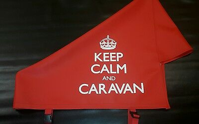 New Red Keep Calm and Caravan Hitch Cover