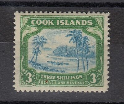 Cook Islands 1945 3/- Green Blue SG145 Mint MVLH X8735