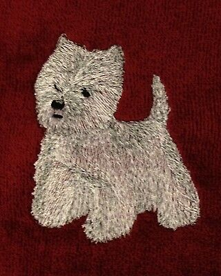 West Highland White Terrier, Embroidered, Custom, Personalized, Dog, Westie