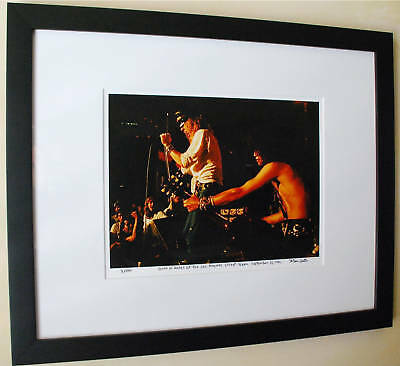 Reckless Road fine art photo Guns N' Roses Slash 1st live Les Paul 1985 signed
