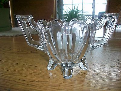 Vintage Indiana Depression Glass Fluted Colonial Pattern Footed Sugar Bowl