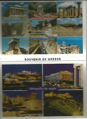 Fold Out Set Of Ten Colour Postcards Of Greece