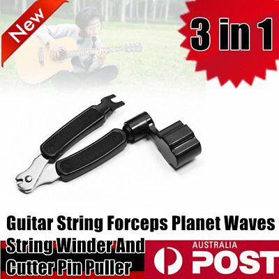 3 in 1 Guitar String Forceps Planet Waves String Winder And Cutter Pin Puller AU