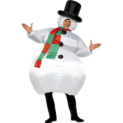 Inflatable Snowman Suit Father Adult Mens Christmas Fancy Dress Costume 38155