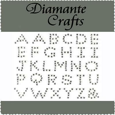Diamante Alphabet Letters Self Adhesive Rhinestone Vajazzle Body Art  Gems UC