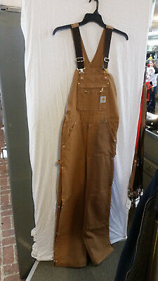 Carhartt Men's Zip To Thigh Bib Overall Unlined,Carhartt Brown,32 x 34 R37BRN