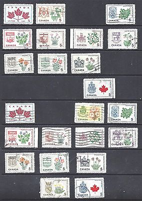 Canada DULL AND F PAPERS SCOTT 417/429A VF USED (BS8686-7)