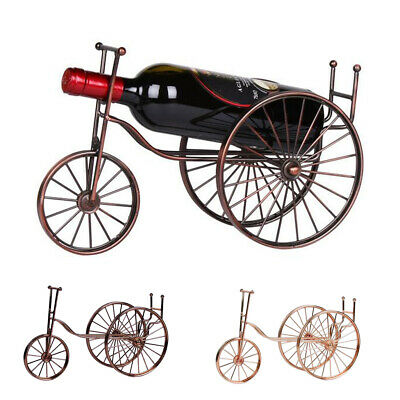 Single Glass Fine Dining Table Metal Bike Shape Wine Holder Decorations