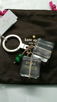 BNWT KATE SPADE BREAK THE ICE KEYCHAIN FOB &  K.S. Pouch -msrp  $68-wow-gift!