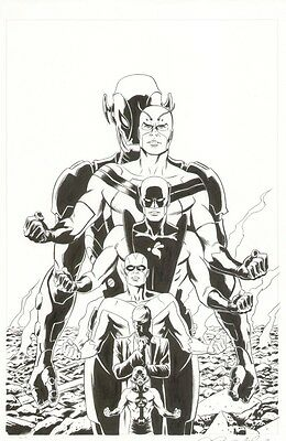 Paolo Rivera original comic Variant Cover art Avengers Hank Pym Ant-Man Giant