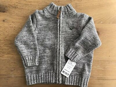 Carters Baby Boys Full Zip Up Sweater Cardigan Gray Size 18 Months