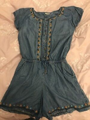 Girls Age 14 Light Blue Soft Denim Playsuit From Next Clearout Look