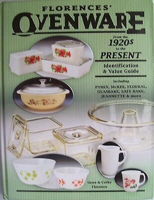 VINTAGE GLASS OVENWARE $$$ id PRICE GUIDE BOOK casseroles mixing bowls bakeware