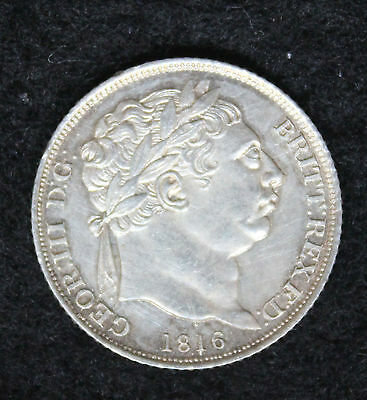 King George III 1816 Silver Sixpence 6d AUNC