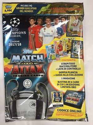 Champions League 2017/2018 Match Attax Tradind Cards Starter Pack