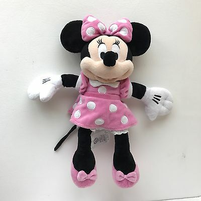 """Disney Store Minnie Mouse Soft Plush Toy Stuffed Animal 100% Authentic 13.5"""""""