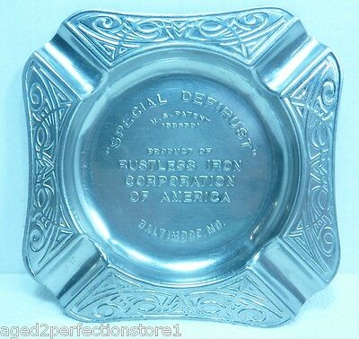 Vintage Rustless Iron Corp Advertising Ashtray 'Special Defirust' Baltimore Md