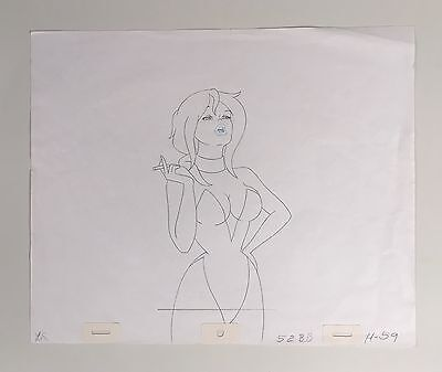 Cool World movie production Holli Would clean-up drawing sexy pose Bakshi 1992