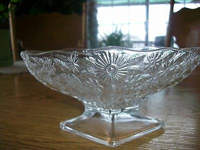 Vintage Indiana Depression Glass Pineapple-Floral Sherbet Bowl