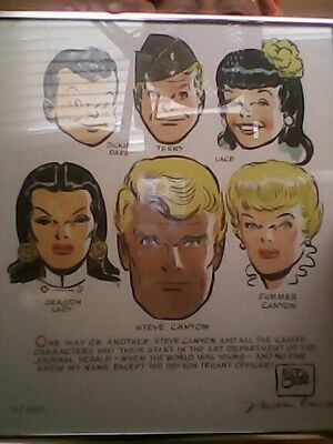 milton caniff characters framed art