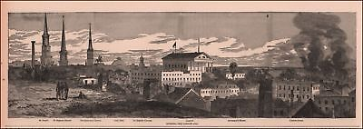 RICHMOND, VIRGINIA, CIVIL WAR CITY VIEW, Antique Engraving Original 1894